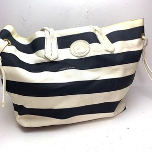 DOONEY & BOURKE Navy White Tote Shoulder Bag Purse